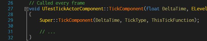 TickTestActorComponent