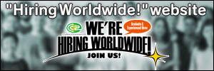 """Hiring Worldwide!"" website"